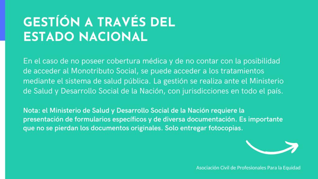 Tratamientos a través del Estado Nacional Argentina, ASPPE